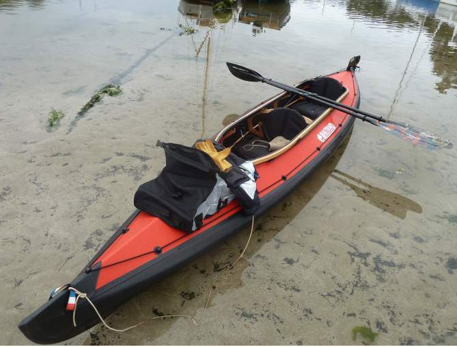 Kayak nautiraid d montable ossature bois le pays de gauguin - Kayak de mer 2 places ...